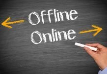 Offline and online written with chalk I iTMunch
