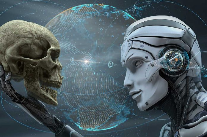 Robot carring the human skull- Elon Musk raises question on AI safety I iTMunch