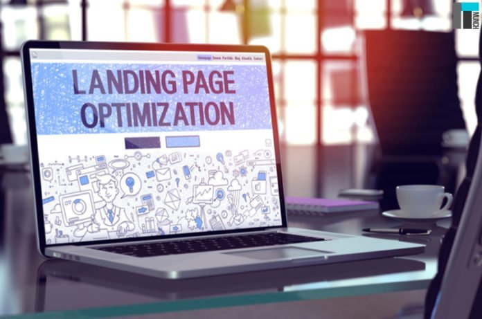 A laptop displaying landing page optimization I iTMunch