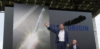 Jeff Bezos launching the Blue Origin I iTMunch