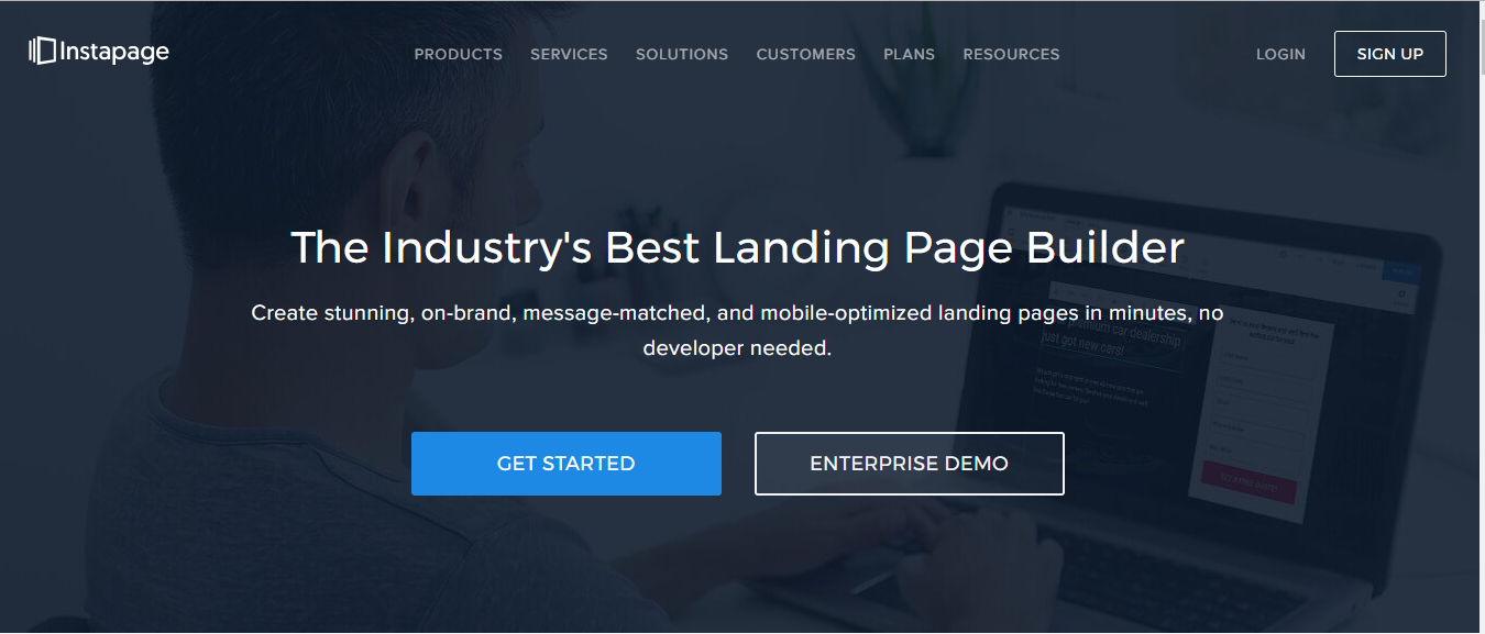 Instapage landing page software