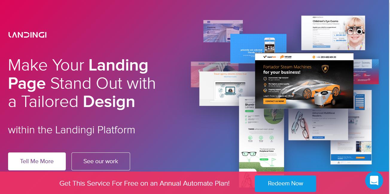 Landigi landing page software