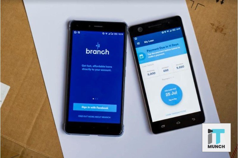 Two Mobile Phones with the Branch Mobile App Dashboard | iTMunch