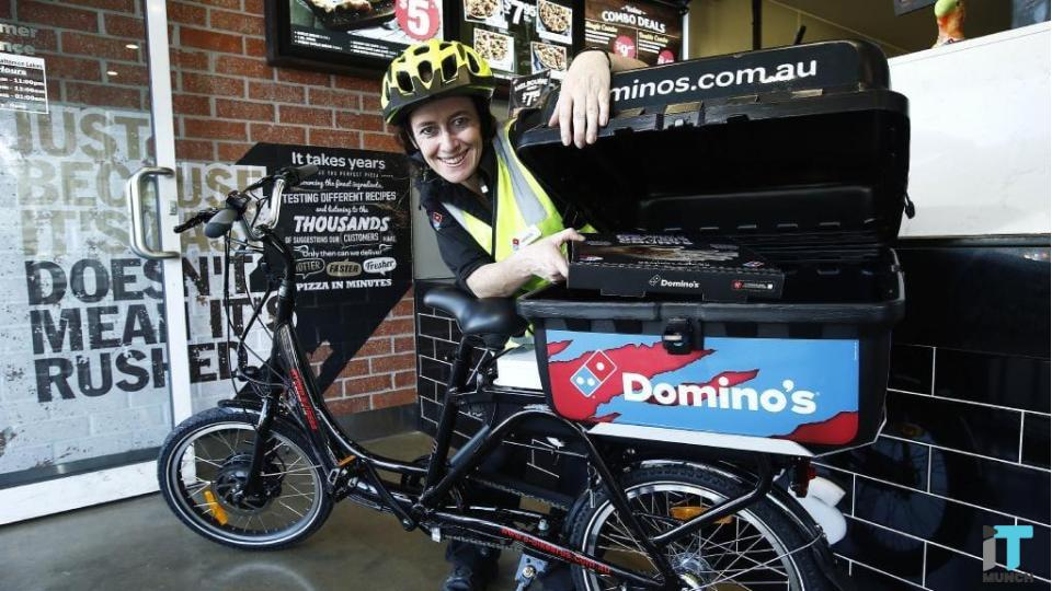 Dominoes e-bike delivery  | iTMunch