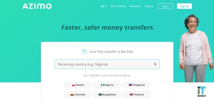 Azimo money transfer | iTMunch