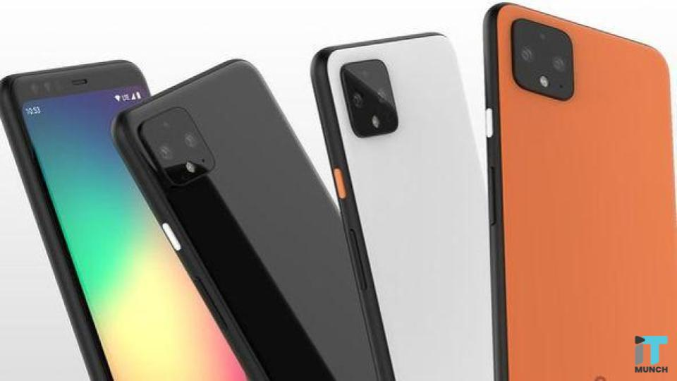 Google Pixel 4 with orange - coral color lineup | iTMunch
