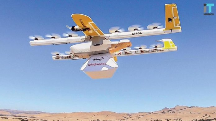 Wing drone delivery | iTMunch