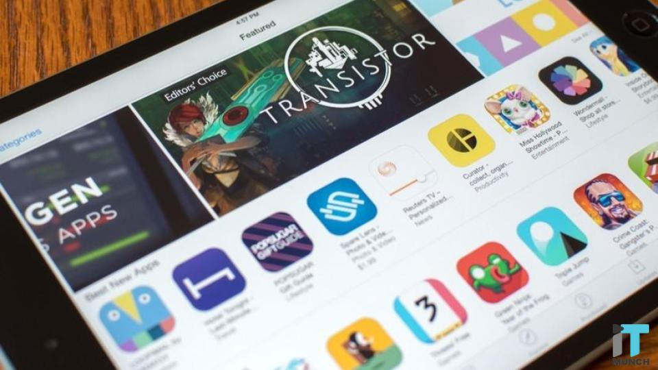 App store being displayed  in the tablet | iTMunch
