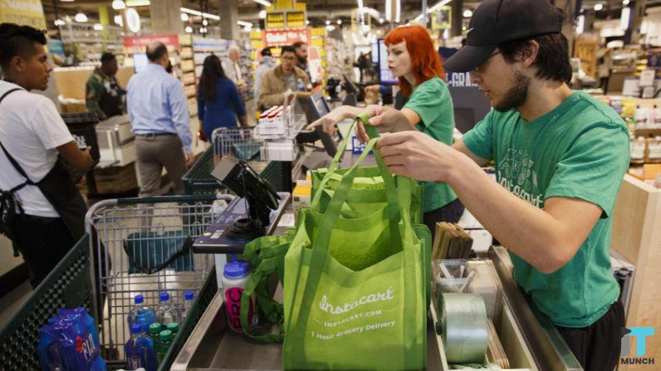 Instacart shoppers getting grocery items | IT Munch