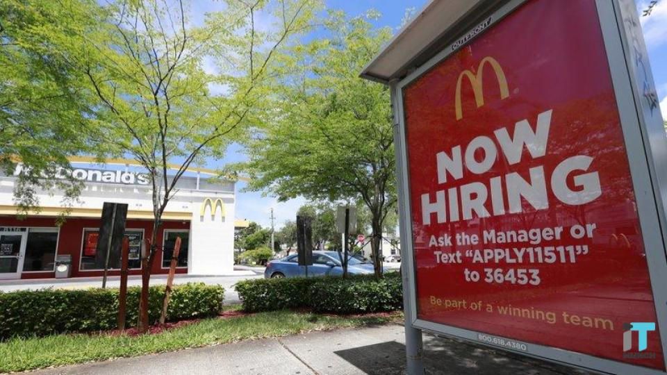 "McDonald's ""Now Hiring"" display board | iTMunch"