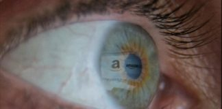 An eye with reflection of Amazon- Nielsen to measure viewers on Amazon Prime Video I iTMunch