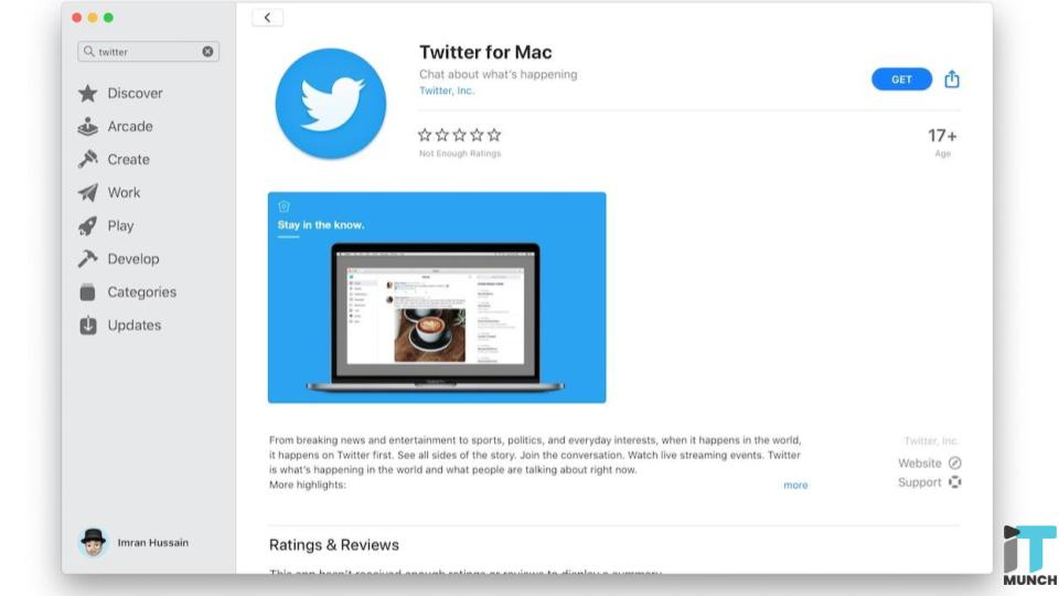 Twitter app for Mac | iTMunch