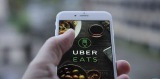 Uber eats in phone | iTMunch