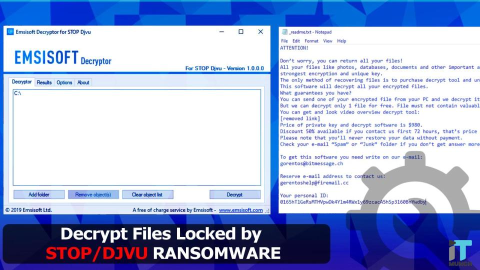 Emsisoft can decrypt files barred by Stop | iTMunch