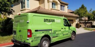 Amazon grocery delivery truck | iTMunch