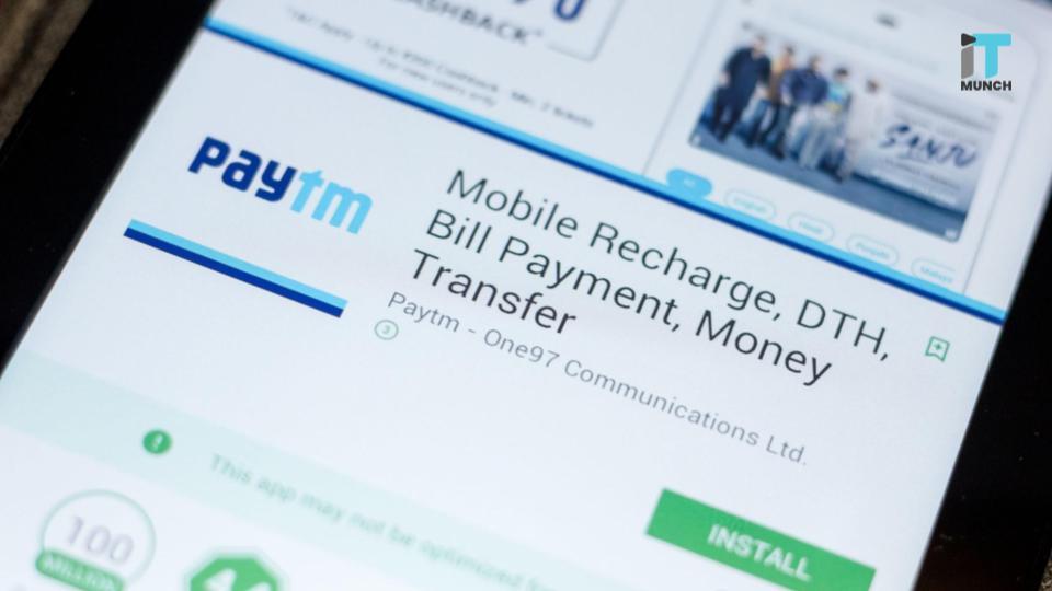 Paytm receives funding | iTMunch