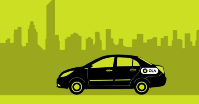 Visual representation of Car with Ola logo I iTMunch