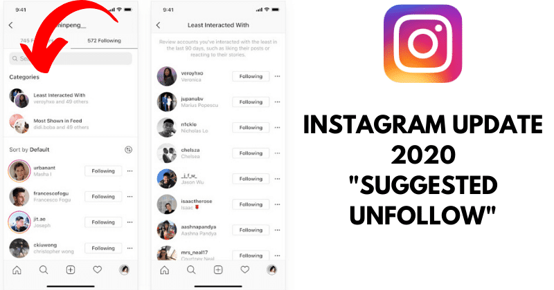 Suggested unfollow by Instagram | iTMunch