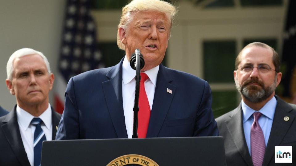 President Trump giving speech | iTMunch