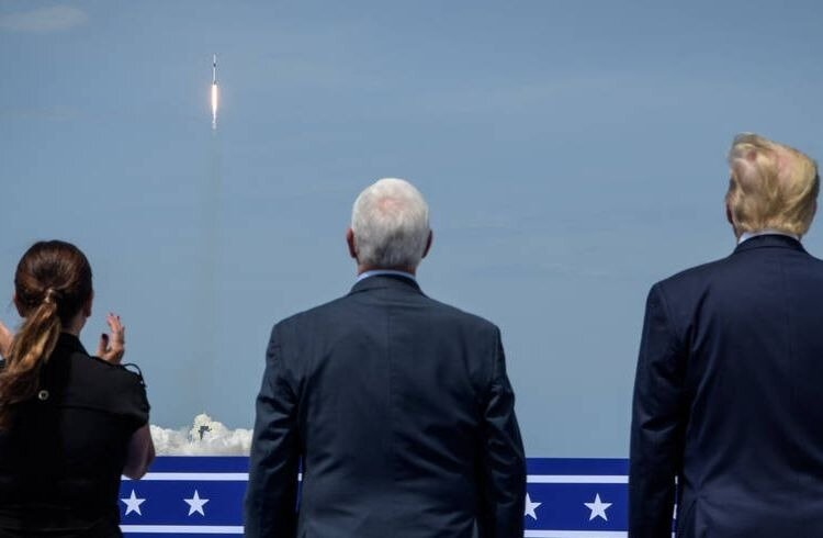 President Donald Trump, Vice President Mike Pence & Second Lady Karen Pence at SpaceX Crew Dragon launch | iTMunch