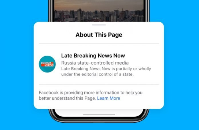 State controlled media posts by Facebook