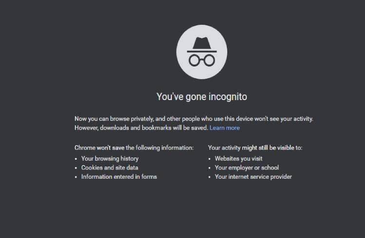 Chrome Incognito Mode | iTMunch