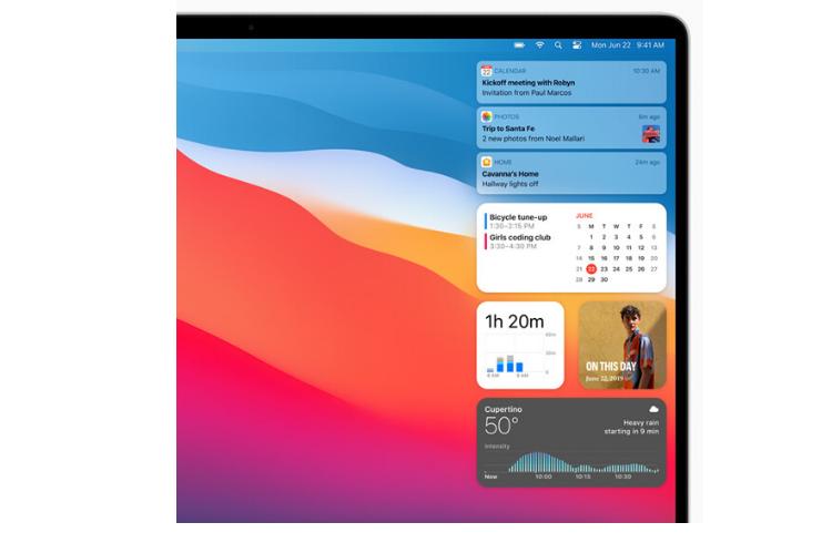 macOS Control Center - Apple WWDC 2020 Keynote | iTMunch