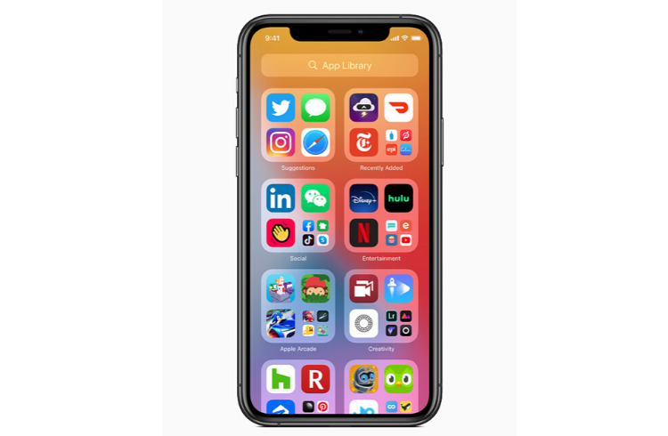 iOS 14 - App Library - Apple WWDC 2020 | iTMunch