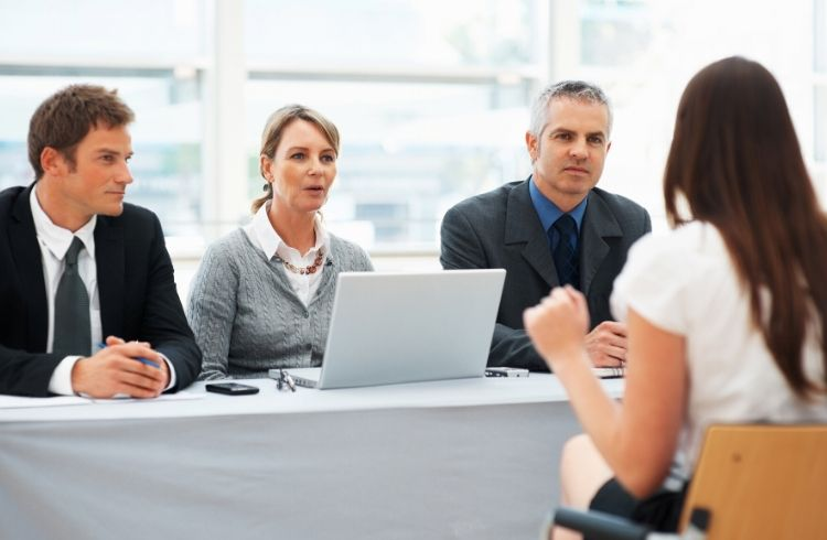 Job seeker in panel interview | iTMunch