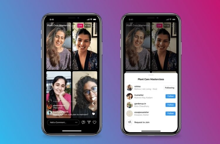 IG launches 'Instagram Live Rooms' for live broadcasts with 4 creators