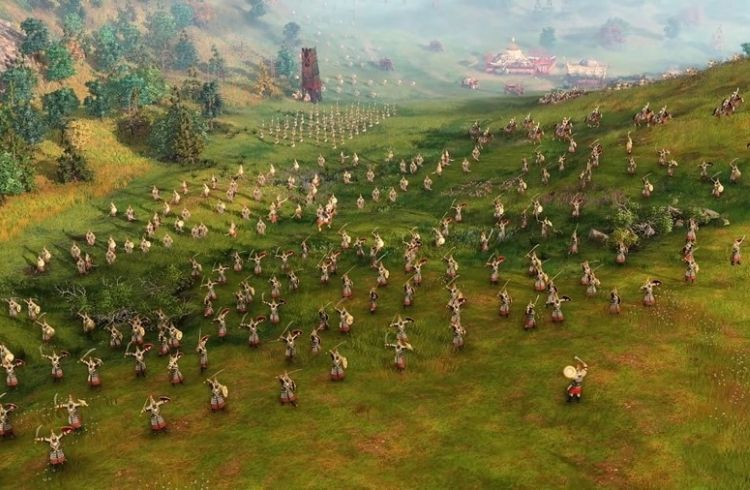 Age of Empires 4 Units Standing on an Elevation